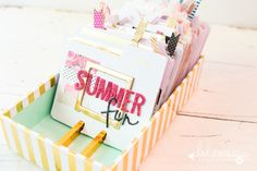 Create a Summer Bucket List! Everyday flip a @heidiswapp MemoryDex card to reveal that day's activity! by @createoften