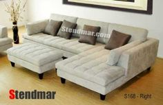 Amazon.com: 3pc New Modern Gray Microfiber Sectional Sofa S168RG: Home & Kitchen