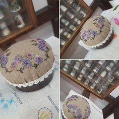 #양산프랑스자수#메이의 앤틱자수 #가을가을 핀쿠션~~#자수타그램 #embroidery #needleworks #handmade (design by 분당쌤)