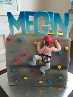 Rock climbing wall cake, for those looking to take on a more physical challenge when its time to retire. Rock Climbing Cake, Climbing Wall, Apple Cake Pops, Cakes For Boys, Kid Cakes, Retirement Party Themes, 10th Birthday Parties, Birthday Cakes, Sport Cakes