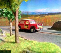 Mini Cooper (1/32 scale) #scalextric #slot #slotcar #slottrack #slotcartrack #circuito #rennbahn  #maqueta #portable  #forsale  #scalemodel #modelismo #modelism #handmade #paint #airbrush #aerografo #landscaping #rally #cars #wrc #wec #paintwork #mountain #montaña #diy #doityourself #entrepreneur #custom #artisan #woodart #art #carart #maqueta #madera #handmade #hechoamano #woodwork #fetama #mini #minicooper #cooper #mini1000 #132scale #montecarlo #rallymontecarlo #toypic #handcrafted Slot Car Tracks, Slot Cars, Handmade Paint, Car Ins, Woodworking, Mountains, Circuit, Cars, Carpentry