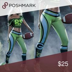 2016 Green Bay Packers 3D Stretch Gym Leggings Product Feature: Fashion design,100% Brand New, high quality!  Material: 88%Polyester+12%Spandex Style: Sexy, Party, Casual, Fashion, Club Size: One Size Fit Most Waist 68-82 cm Hip 84-100cm Length-90 cm There is 2-3% difference according to manual measurement.  please check the measurement chart carefully before you buy the item.  1 inch = 2.54 cm  Please note that slight color difference should be acceptable due to the light and screen. Pants…