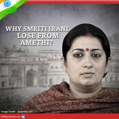 Smriti Irani lose from #Amethi