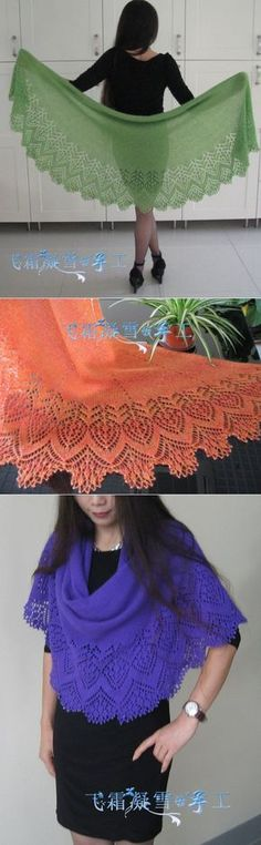 Vernal Equinox Lace Shawl ~~ Free downloadable pattern available (written and charts) in Ravelry