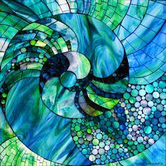 Stained Glass Mosiac by Kasia Polkowska at Kasia Mosiacs