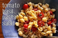 Wasn't the greatest pasta salad. Easy to whip up a batch, but nothing spectacular. Pasta Salad Recipes, Healthy Salad Recipes, Pasta Meals, All You Need Is, Healthy Cooking, Cooking Recipes, Healthy Food, Healthy Eating, Tomato Basil Pasta