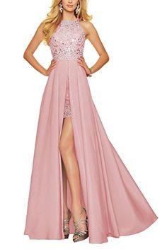 Bbonlinedress Long Chiffon Open Back Prom Dress With Bead…