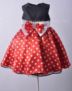 Vestido da Minnie - Confira mais em: http://anagiovanna.com.br/produtos/1/vestidos-infantil/3/minnie