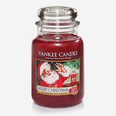 Merry Christmas : Large Jar Candle : Yankee Candle : A cool holiday treat . the sparkling burst of fresh mint with a touch of sweetness. Merry Christmas, Christmas In Heaven, Christmas Mood, Christmas Candles, Christmas Scents, Scented Candles, Candle Jars, Yankee Candles, Soy Candles
