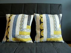 Pillows by Kari at Craft Happy Posted on the Modern Quilt Guild blog August 1, 2014.
