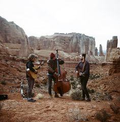 G. Lag - desert backdrop for band portrait in Arches National Park, Utah   James Fitzgerald