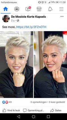 Edgy Short Haircuts, Thin Hair Haircuts, Haircut For Thick Hair, Short White Hair, Short Hair With Layers, Short Hair Cuts For Women, Shot Hair Cuts, Shot Hair Styles, Really Short Hair