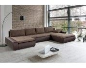 Canap d 39 angle marron ultra moelleux salon living room for Canape ultra moelleux