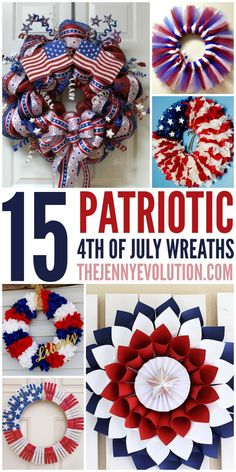 Take a look at these beautiful patriotic wreaths for some step-by-step tutorials and creative ideas to help you decorate your home for Independence Day.