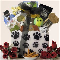 You & Your Pooch! Pet Dog Gift Basket Finally a gift for both 'You & Your Pooch'. Send them this unique dog gift that has a little something for them and for their owner. Featuring a Felt Puppy Notepa
