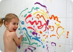 17. More art: in the bathtub!