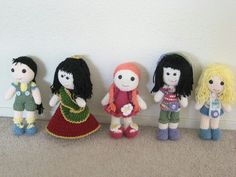 Crochet amigurumi dolls #handmade #crochet #doll #colorful #pretty #cute