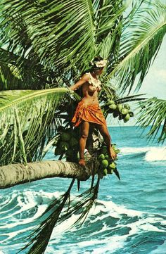 What a great photo!! 1960s Tahiti
