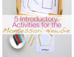 Make Like a Montessori Mama: Shape Activities: 1. Large shape puzzle 2. Sh ape pinning and cutting 3. Matching shape outlines 4. Shape sorters 5. Patterning with shapes