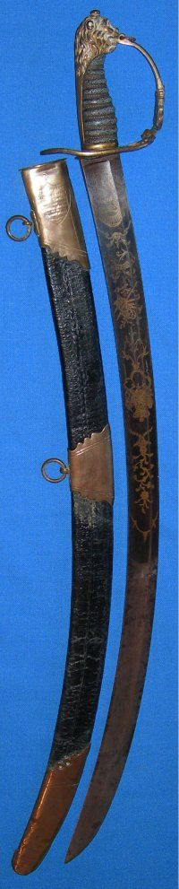 1803 Pattern Blue & Gilt British Grenadier Guards Officer's Sword