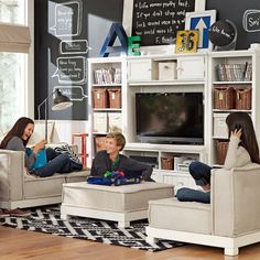 I would love to have a loft area for a kids game room