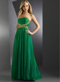 Vestido de noche verde