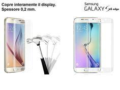 Pellicola Samsung S6 Edge Edge+ Plus Galaxy Per Vetro Temperato Curvo 100% Bordi