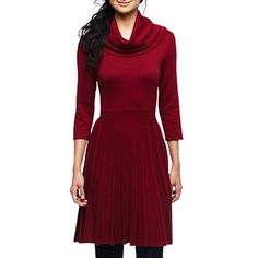 Jones Wear® Cowl-Neck Sweater Dress - jcpenney. Shop Valley West Mall for the Holidays!