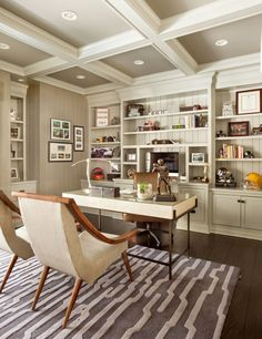I'm dreaming up a home office today friends! I'm sharing some Home Office inspiration with you because it is my dream space in my new home. A home office just for me! Interior Simple, Office Interior Design, Luxury Interior Design, Office Interiors, Home Interior, Office Designs, Interior Ideas, Home Office Lighting, Home Office Space