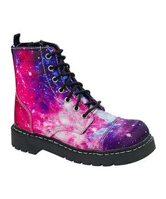 Look what I found on #zulily! Galaxy Print Combat Boot #zulilyfinds