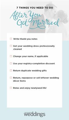 7 things you need to do after you get married one year until wedding quotes 12 month wedding checklist wedding planning checklist eventplanningideas month planning quotes wedding year Wedding To Do List, Low Cost Wedding, Post Wedding, Budget Wedding, Plan Your Wedding, Wedding Tips, Wedding Events, Wedding Day, Wedding Country