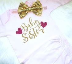 Newborn baby gown, newborn gown, baby one piece, baby shower, pink gown, layette, baby layette, baby sister, big sister, promoted to big sis by PerfectlyPINKBow on Etsy https://www.etsy.com/listing/580796940/newborn-baby-gown-newborn-gown-baby-one