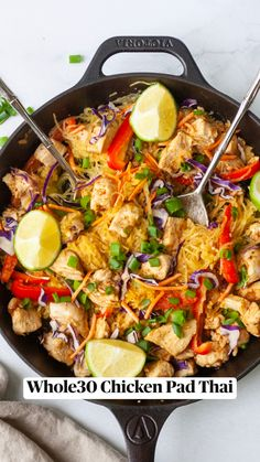 Whole30 Dinner Recipes, Paleo Recipes, Low Carb Recipes, Cooking Recipes, Healthy Thai Recipes, Clean Dinner Recipes, Paleo Chicken Recipes, Paleo Meals, Whole 30 Diet