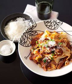 Australian Gourmet Traveller Italian recipe for pappardelle with braised goat ragù by Pablo Tordesilla& from Queensland restaurant Bar Alto. Chef Recipes, Pasta Recipes, Italian Recipes, Meat Recipes, Recipies, Lamb Ragu, Ragu Recipe, Pasta Machine, Menu