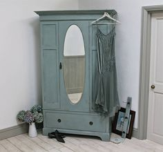 vintage painted wardrobe by distressed but not forsaken | notonthehighstreet.com- not on the hight street