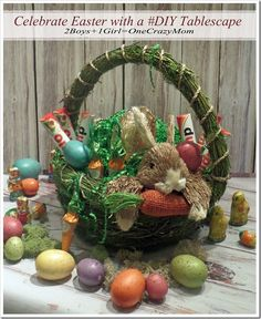 Get some Easter #DIY ideas from Baskets to Tablescape via twoboysonegirlandacrazymom.com >> #WorldMarket Easter Traditions, Decor, Baskets, Brunch Recipes