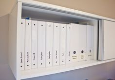 You don't always have to use a filing cabinet to organize all you documents. Try binders!