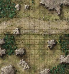 Overworld, Terrain, Wilderness Battlemap