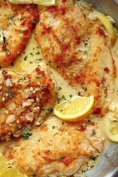 This Creamy Lemon Garlic Chicken is creamy, delicious and bursting with flavor! Serve with potatoes, This Creamy Lemon Garlic Chicken is creamy, delicious and bursting with flavor! Serve with potatoes, rice or pasta for a quick and easy dinner! Garlic Chicken Recipes, Baked Chicken, Recipes With Chicken, Baked Lemon Garlic Chicken, Chicken Menu, Cracker Chicken, Sriracha Chicken, Hen Chicken, Chicken Wire