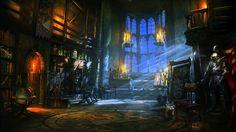 Fantasy castle room dark wallpaper 1920x1080 118900 Fantasy castle Environment concept Fantasy landscape