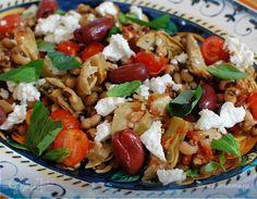 Средиземноморский салат с фасолью и артишоками | Официальный сайт кулинарных рецептов Юлии Высоцкой