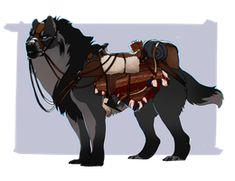Lazzo Tack by HeggeHogge on DeviantArt Mythical Creatures Art, Mythological Creatures, Magical Creatures, Creature Concept Art, Creature Design, Creature Drawings, Animal Drawings, Fantasy Beasts, Fantasy Art