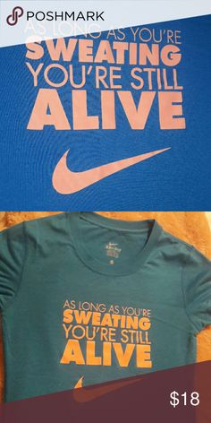 Nike graphic t-shirt Awesome fabric (dri-fit).  Like new!! Nike Tops Tees - Short Sleeve