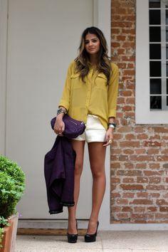 amarelo + roxo
