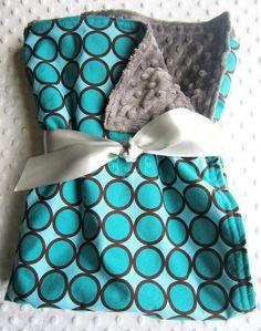Baby Boy Large 35 x 29 Stroller Blanket in by BucciAndBubba, $36.00