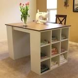 Love the high top free standing table.  Perfect for cutting fabric or generally spreading things out and making a massive mess (my favorite craft activity of all time).
