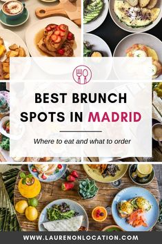 This is a complete list of the best brunch spots in Madrid, Spain, from small cafés with budget deals to splurge-worthy champagne popping celebrations. These places serve Spanish food, American classics, and a modern twists. Spain Travel Guide, Europe Travel Tips, Travel Guides, European Travel, Italy Travel, Brunch Places, Brunch Spots, Madrid Food, Madrid Travel