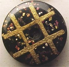 33 Antique Composite Buffalo Horn Buttons Mint on Card Plaid Rare #Composite #CM
