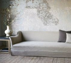 Wedding Ideas: gray-couch-wall-interiors