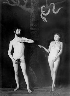 Man Ray. Cine-Sketch: Adam and Eve (Marcel #Duchamp and Bronia Perlmutter), 1924.